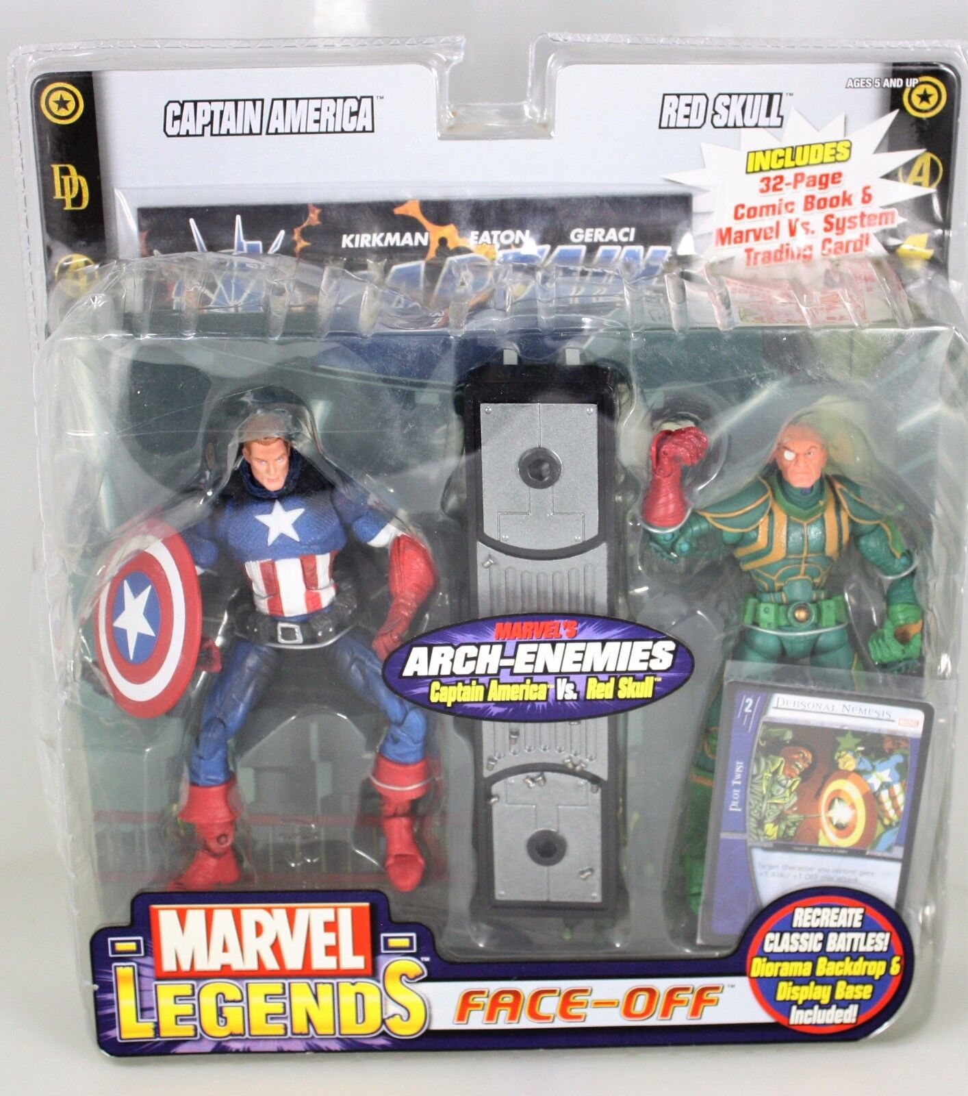Marvel Legends Face-Off CAPTAIN AMERICA vs rosso SKULL Marvel's  ARCH-ENEMIES 2-PK  elementi di novità