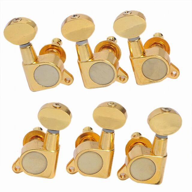 gold electric guitar tuning machine heads 3l3r peg for fender gibson tuners pegs for sale online. Black Bedroom Furniture Sets. Home Design Ideas