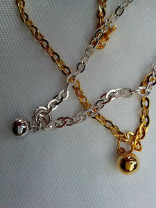 Please Choose Ball Anklet 25cm Chain No7h Limpid In Sight Independent 925 Sterling Silver Or 22ct Gold Clad Jewelry & Watches Fine Anklets