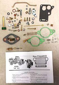 Details about MB Willys WW2 1941-45 Jeep Carter WO Carburetor Master  Rebuild Kit 647745K G503