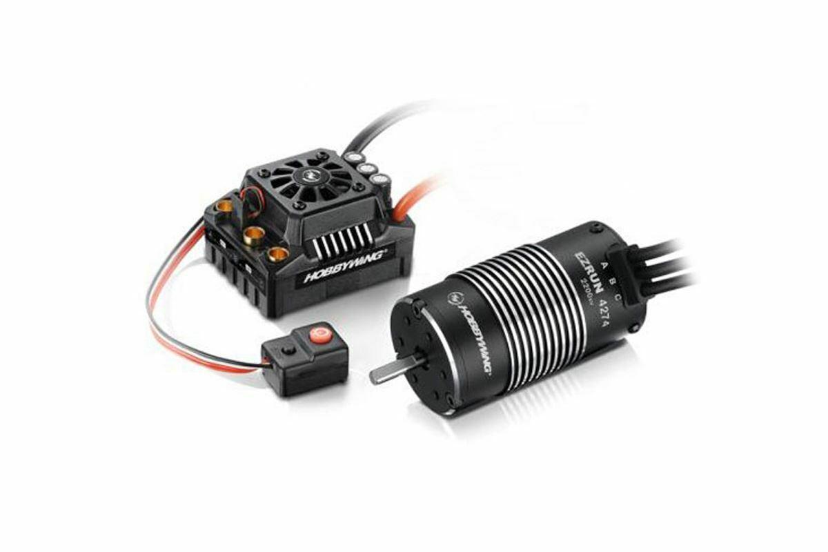 Hobbywing EZRUN MAX8 + 2200kv Brushless Motor - TRX-Plug