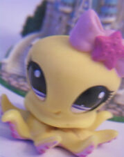 ✵Littlest Pet Shop Yellow Octopus #1146 LPS Girls Toy Ocean AnimalRARE RETIRED✵
