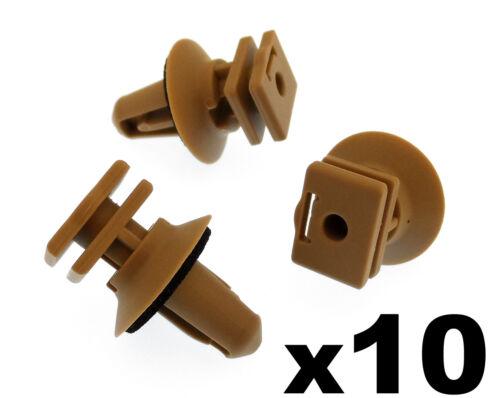 10x BMW intérieur clips en plastique pour mic sur rebord /& porte d/'entrée beige clips