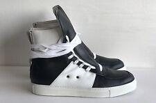 KRIS VAN ASSCHE Black leather hi-top trainers UK 7 EU 41 RRP £445