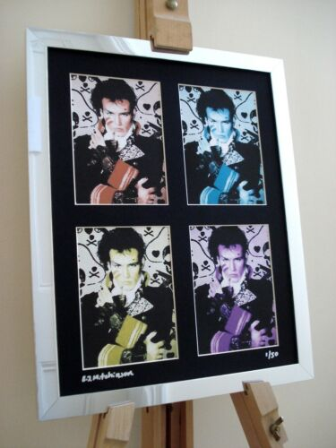 ADAM ANT LTD EDITION SIGNED POP ART CANVAS