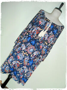 Naif-Bohemian-Boho-Floral-Paisley-Bell-Sleeve-Peasant-Shift-Dress-1X
