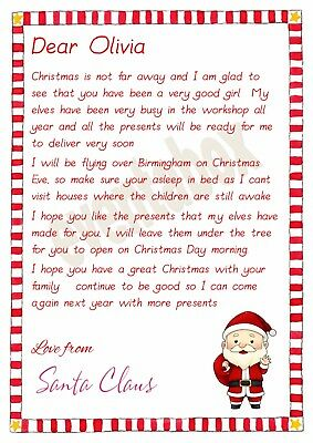 Personalised Letter From Santa// Father Christmas