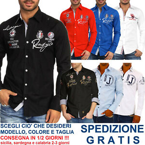 Camicia-da-Uomo-Regular-Fit-a-Maniche-Lunghe-Casual-Elegante-per-Moda-Fashion