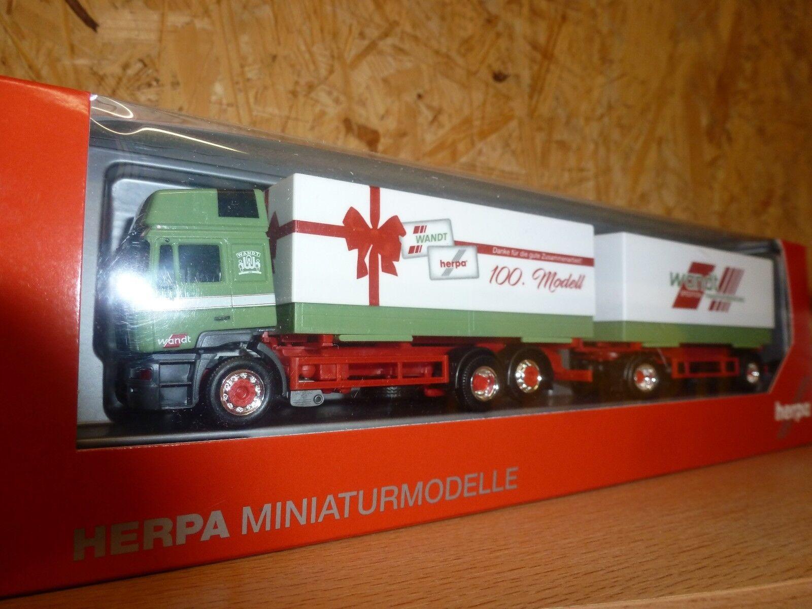 Herpa,307949  MAN Wechselpritschen-Hängerzug  Wandt   Das 100ste Herpa Modell