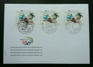 [SJ] United Nations Sport 2005 Games (stamp FDC) *3 cancellations
