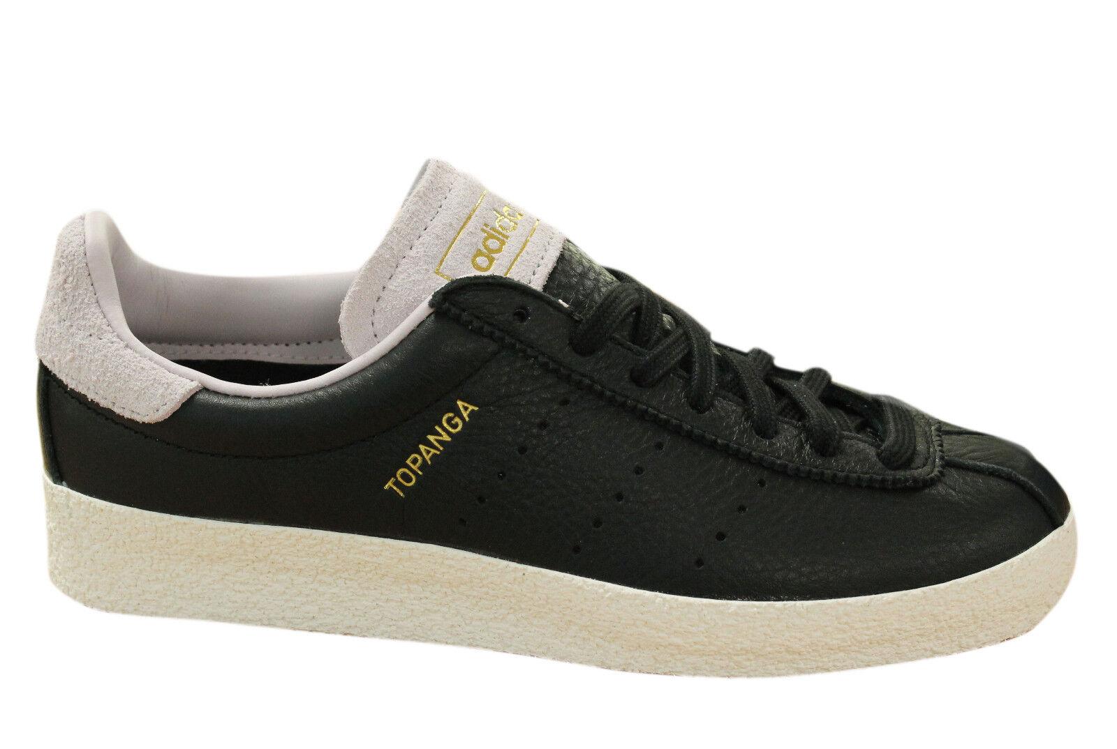 Adidas Originals Topanga Clean Hombre Zapatillas con Cordones Cuero Negro S80073