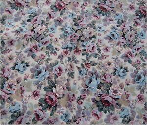 Vintage SIMONSON Conventry Linen Fabric Floral Flowers Roses Chintz