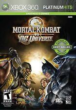 MORTAL KOMBAT vs DC UNIVERSE (XBOX 360, 2008) (0747)     ***FREE SHIPPING USA***