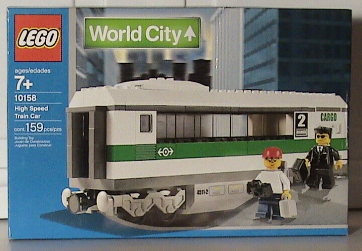 LEGO Train 10158 9V World City 10158 Train High Speed Train Car New Sealed 196f1c