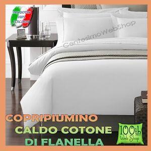 Copripiumino Flanella Matrimoniale.Copripiumino Flanella Matrimoniale 100 Cotone Bianco Tinta Unita