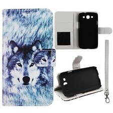 Flip Wallet Snow Wolf For Samsung Galaxy S 3 i9300 Pu Leather Cover Case
