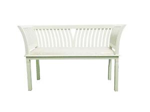 Banco-de-dos-plazas-en-color-blanco-madera-maciza-de-mindi-con-sillon-tapizado