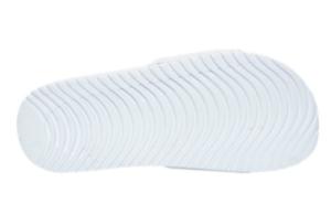 7981a86b9 White Black GS PS 819352-100 Kids youth Nike Kawa Slide Sandals