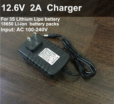 12.6V 2A Smart Charger AC/DC Adapter for 11.1V Li-ion LiPo 3S Lithium Battery HQ