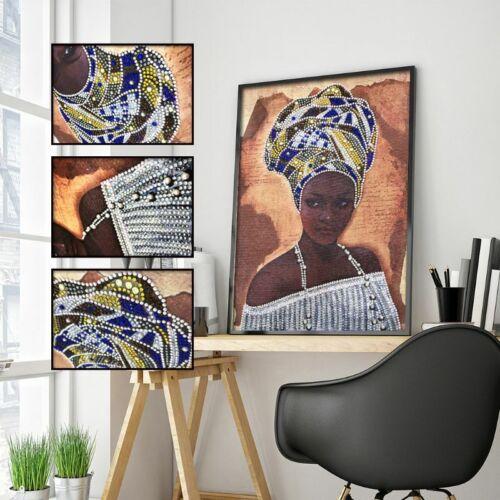 African beauty spéciale 5D en forme de diamant peinture Broderie Cross Stitch À faire soi-même