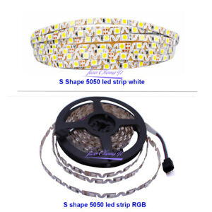 S-shape-SMD-5050-led-strip-light-DC12V-RGB-white-Flexible-Ribbon-IP20