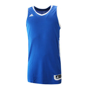 Details about Adidas Essential Kit 3.0 Blue White Polyester Mens Sleeveless Jersey AI4668 RW12