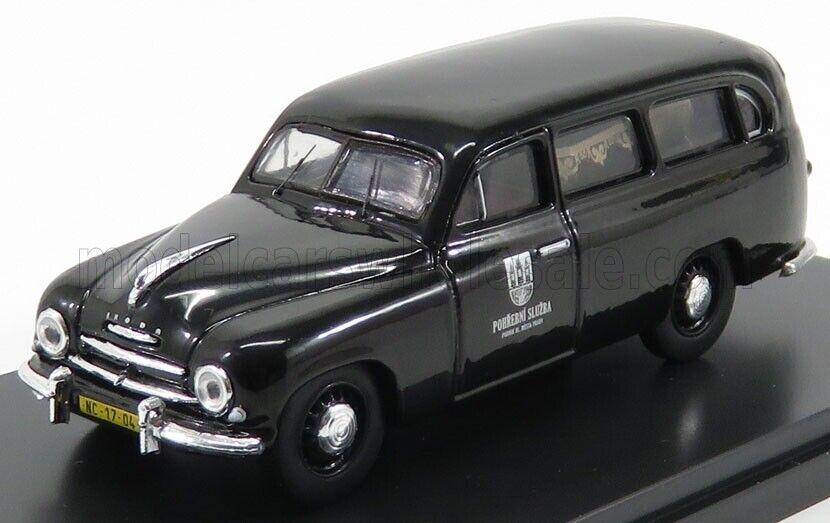 contador genuino Maravilloso MODELCoche Skoda 1202 Vagón  Hearse    1956-negro-escala 1 43  Con precio barato para obtener la mejor marca.