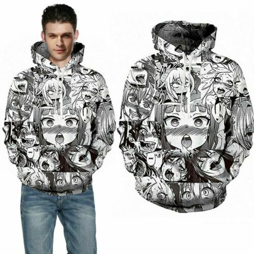 Funny Cartoon Ahegao Anime 3D Print Men/'s Sport Street Casual  Tracksuit Outfits