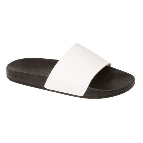 Ladies Womens Slip On Gym Beach Sliders Slippers Sports Sandals Summer Shoe Size