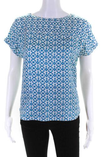 APC Womens Silk Sleeveless Kimono Cut Printed Top