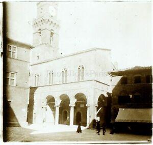 Francia Italia Lucca A Identificare c1910, Foto Stereo Vintage Placca Lente VR5L