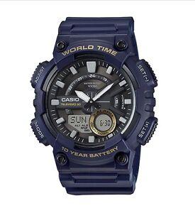 Casio-Watch-AEQ110W-2AV-Telememo-World-Time-Blue-COD-PayPal-Ivanandsophia