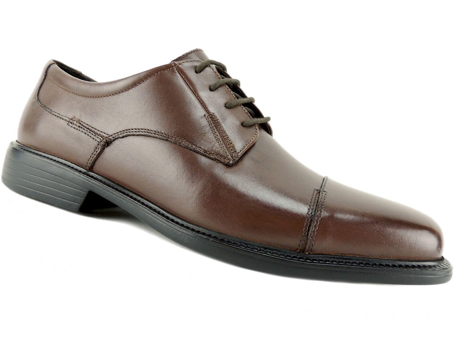 Bostonian Men's Wenham Dress Cap-Toe Oxfords Brown Leather 10 M