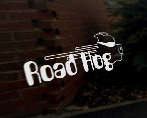 ROAD HOG car vinyl decal vehicle bike graphic bumper sticker