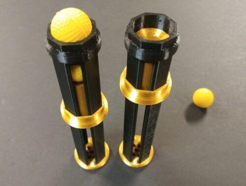 Speed Loader 5 tiros Preto E Dourado Para rival Blasters Nerf Kronos Mercury Heracles
