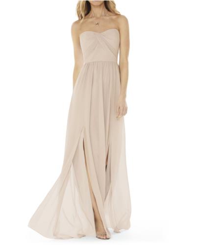 Nordstrom Strapless Georgette Bridesmaid Gown; Siz