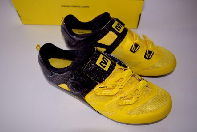 dcfe8642420 Mavic Cosmic Ultimate Race Shoes Size 36 2/3 Yellow Black Road Bike Shoes  2015 for sale online | eBay
