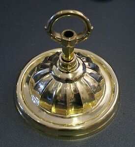 LARGE-FLUTED-BRASS-CEILING-CONE-PLATE-ROSE-UPTO-100KG