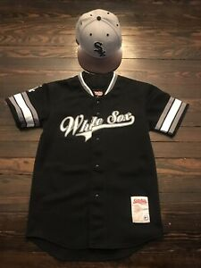 size 40 98350 34f13 Details about Chicago White Sox Stiches Genuine Merchandise Black Jersey Sz  Youth M 7 1/4 Hat