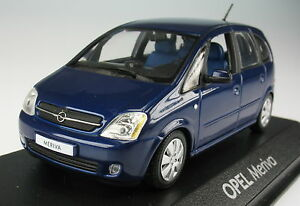 Minichamps-opel-meriva-a-azul-metalizado-1-43-nuevo-en-OVP-maqueta-de-coche