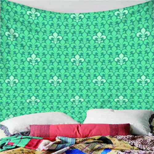 Green Symmetrical Pattern 3D Wall Hang Cloth Tapestry Fabric Decorations Decor