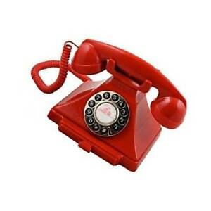 Old Fashioned Phone Antique Desk Classic Red Telephone Retro Vintage