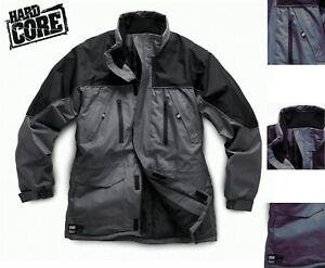 HARDCORE-By-SCRUFFS-WATERPROOF-WORK-JACKET-M-XXL-GREY-BLACK-RAIN-COAT