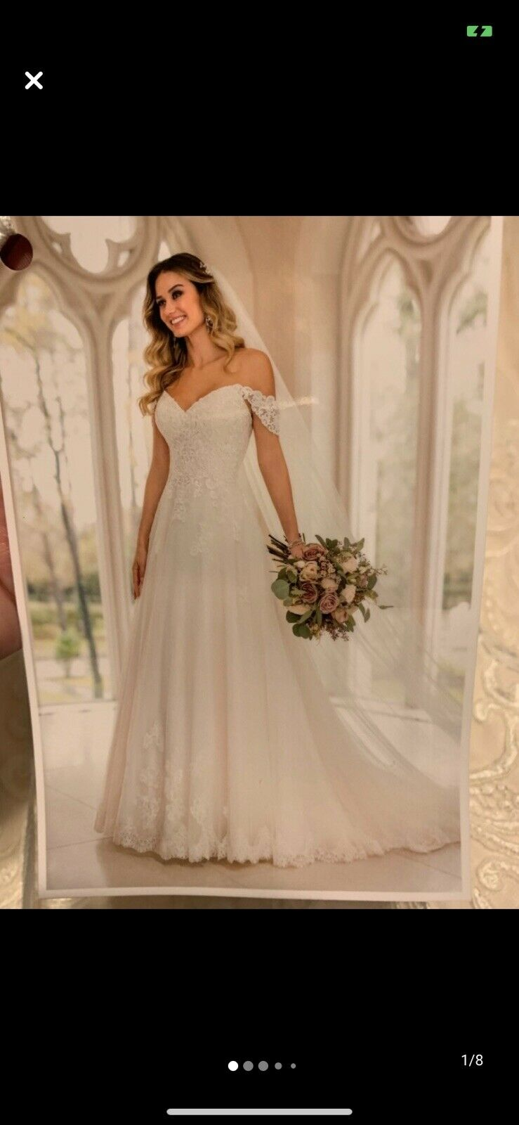 Wedding Dress- Never Worn (with tags)- Veil Also Included