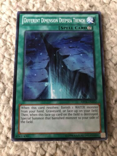 Different Dimension Deepsea Trench Yugioh Card Genuine Yu-Gi-Oh Trading Card