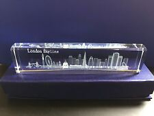 London Skyline 3D Laser Cut Crystal Glass British Christmas Souvenir in Gift Box