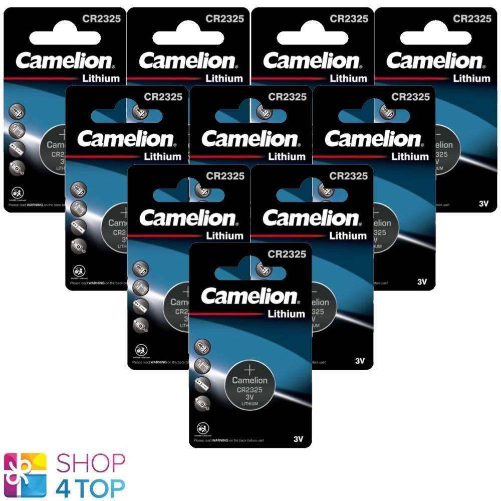 10 Camelion CR2325 Batteries Lithium 3V Coin Cell DL2325 BR2325 1BL Exp 2028 New