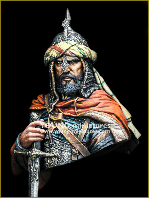 Young Miniatures Arabian Warrior Saracen YH1856 1 10th Bust Unpainted Kit