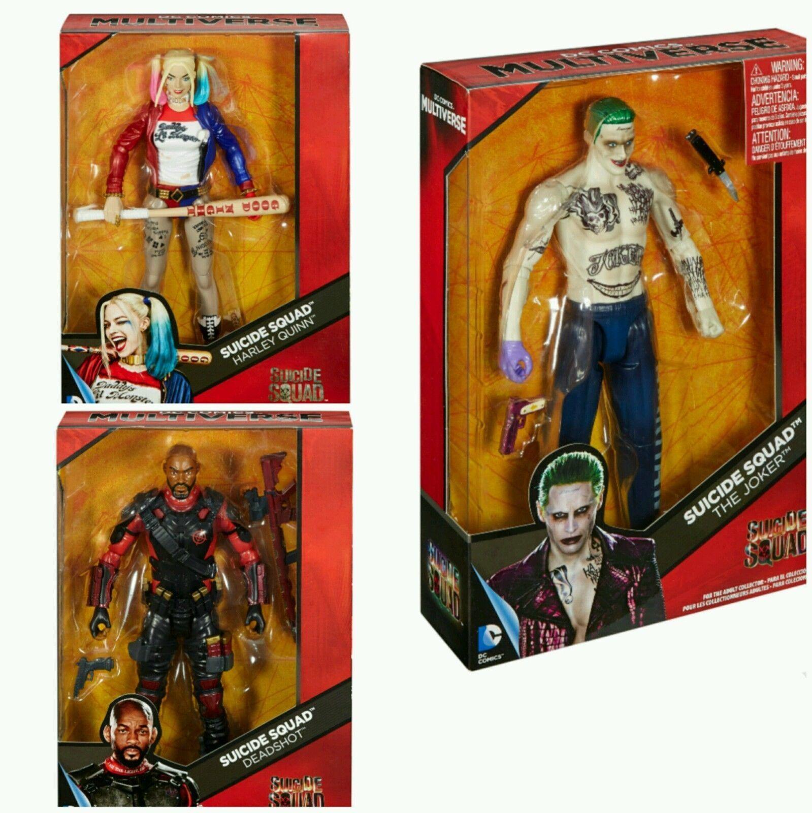 DC Comics Multi-Univers Suicide Squad 12  Action Figure Set Harley JOKER Deadshot