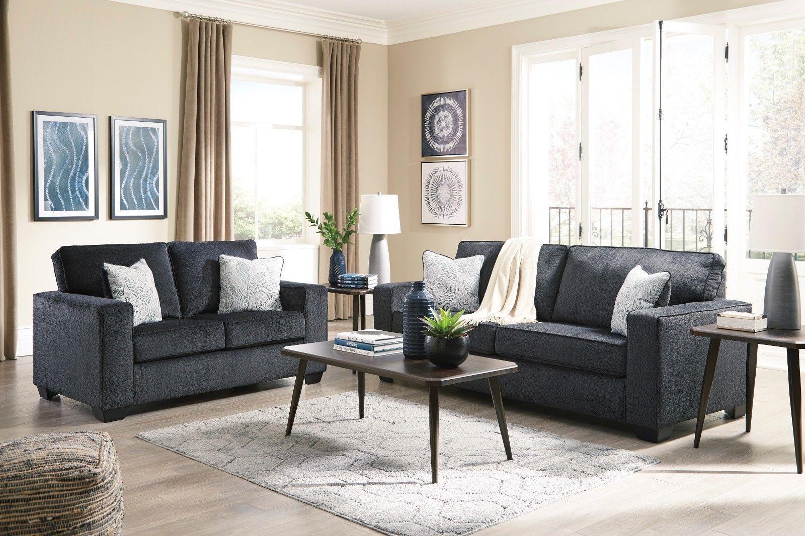 Ashley Furniture Altari Slate Sofa And Loveseat For Sale Online